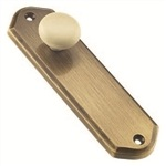 wardrobe handle 125mm satin brass base with cream porcelain knob ar valen1